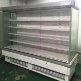 Refrigeratore aperto della visualizzazione delle verdure del collegamento utilizzato in negozio di alimentari