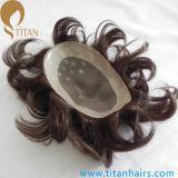 La coutume de couleur de point culminant rapièce des systèmes de cheveu pour les hommes
