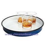 Sunboat 저장 주석 또는 사기질 남비 또는 Olympia 사기질 서빙 쟁반