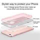 Do Glitter de cristal híbrido protetor luxuoso da faísca do Rhinestone da beleza da forma tampa dura da caixa do diamante para o iPhone 6s