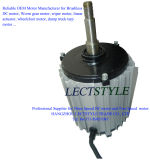 Motor sin cepillo de la C.C. del extractor del aire en esta azotea del tren y acondicionador de aire de la industria