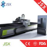 Cortador de alta velocidad del laser de la fibra de la potencia del laser Jsx3015 1000W