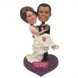 Figurine Casal De Venda De Casamento Cabeça De Bobble De Casamento De Resina Custom