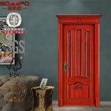 Puerta de madera tallada puerta de encargo europea del panel del diseño (GSP2-047)