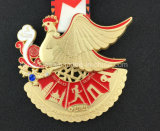 3D Lopende Grote Medaille van de Marathon, zwemt Medaille (gzhy-medaille-001)