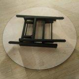Vector de banquete redondo del plegamiento con base metálica superior de la madera contrachapada