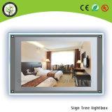 Casella chiara acrilica sottile di pubblicità trasparente del cristallo LED