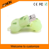 Vara do USB do PVC da movimentação da pena do USB da forma do osso