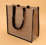 Zak de van uitstekende kwaliteit van het Handvat van de Jute, het Winkelen van de Jute Zak, de Zak van het Handvat