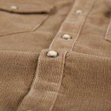 Camisas longas do veludo de algodão da luva do Mens