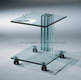 Liso o redondeado o borde biselado pulido claro vidrio flotante