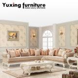 Sofà d'angolo con tessuto e legno per il sofà sezionale domestico in L figura