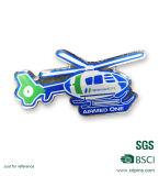 Pinos impressos logotipo personalizados costume do Lapel do helicóptero do metal