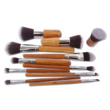 Synthetic Portable Professional 11 PCS Set Bamboo Handle Makeup Brushes