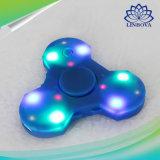 Gift van de blauwe en Witte Plastic LEIDENE friemelt de Lichte Hand van de Vinger Spinner met Spreker Bluetooth