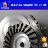 Meule de seule de rangée de Huazuan 100mm cuvette concave de diamant