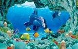 La pared embaldosa el mundo del mar