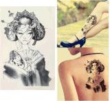 Il geisha del Giappone modella l'autoadesivo provvisorio impermeabile del tatuaggio