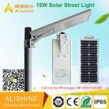 15W IP68 impermeabilizan la luz solar integrada al aire libre del jardín de la calle del LED