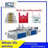 La bolsa de plástico que hace que el bolso de la máquina/de la camiseta trabaja a máquina/el bolso del chaleco que hace la máquina