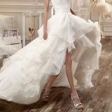 Robe de mariage Salut-Inférieure de circuit de corsage de lacet de robes nuptiales d'organza Tb418