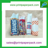 Color Printed Kraft condominium Block Bottom paper farrowed party lunch gift Bags