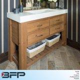 Vaidade pequenas do banheiro da madeira contínua do estilo do vintage com bacia de Undermount