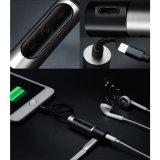Un rayo de 3,5 mm para auriculares Adaptador de enchufe del cargador del cable del auricular de audio para iPhone 7