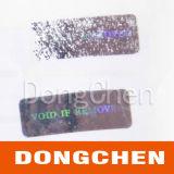 Escritura de la etiqueta de papel auta-adhesivo olográfica de las películas