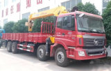 Auman 8X4 화물 트럭은 14 T 망원경 기중기로 거치했다
