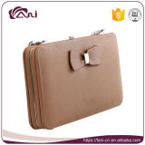 Бумажник держателя кредитной карточки тонкий, большое портмоне бумажника женщин, бумажник карточки пасспорта способа