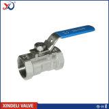 robinet à tournant sphérique de 1000psi 1PC BSPT Ss316 avec le levier de main