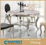 201#Stainless鋼鉄大理石の円形のダイニングテーブル