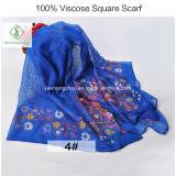 Sciarpa quadrata vendibile stampata floreale dello scialle di 100% del poliestere attraente della viscosa
