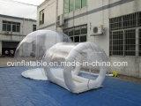 Раздувной прозрачный шатер пузыря