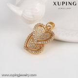 El oro en forma de corazón del doble de la manera de la joyería 64089 fijó para el día de tarjeta del día de San Valentín