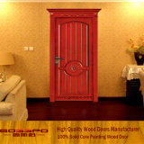 Porte de gros en bois de style européen rouge (GSP2-025)