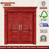 Porte en bois de double oscillation extérieure de classique (GSP1-006)