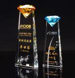 공장은 직접 고품질 K9 수정같은 다이아몬드 포상 트로피를 판매한다