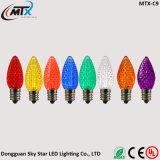 Bulbo do Natal do diodo emissor de luz C9 da luz da corda do bulbo da morango da lâmpada da recolocação