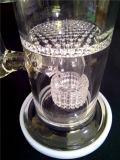 Conduite d'eau AA046 de fumage en verre