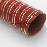 Tubo flessibile flessibile termoresistente rivestito di silicone del condotto