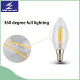 A60 cancelam a ampola do filamento decorativo de vidro do diodo emissor de luz