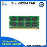가득 차있는 호환성 256mbx8 휴대용 퍼스널 컴퓨터 기억 장치 4G DDR3