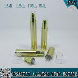 Empaquetage privé d'air de bouteille de sérum de pulvérisateur cosmétique d'or de pompe
