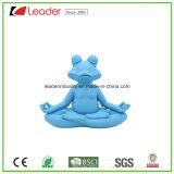 Het nieuwe Beeldje van de Kikker van de Yoga van Polyresin van het Ontwerp Blauwe met Meditatie voor de Decoratie van het Huis en van de Pool