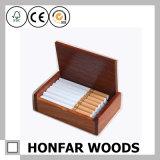 Antiker Brown-hölzerner Kasten-Zigaretten-Ablagekasten