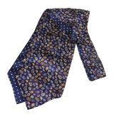 Os homens formam a 100% o lenço do laço do Ascot da cópia de tela de seda