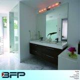 Gabinete de banheiro decorativo de grão de madeira