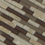 Streifen-Form-Marmor-Mosaik, Mosaik-Wand-Aufkleber